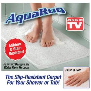 שטיח Aquarug למקלחת, מונע החלקה והצטברות של מים וחיידקים!