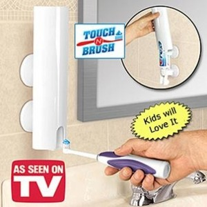 דיספנסר אוטומטי למשחת שיניים | TOUCH N BRUSH  | TV Items | מוצרים לבית ולגן