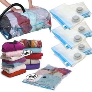 2 שקיות ואקום איכותית ביותר לאחסון בגדים