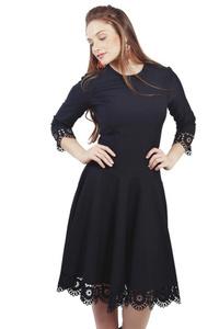 שמלת חיתוך לייזר שחורה