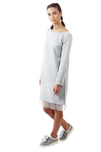 שמלת פוטר אפורה סיומת טול