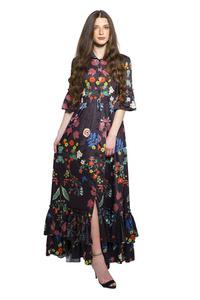 שמלת פפילום הדפס פרחים
