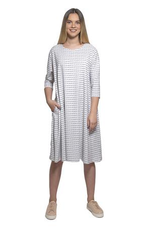 שמלת אוברסייז לבן אפור
