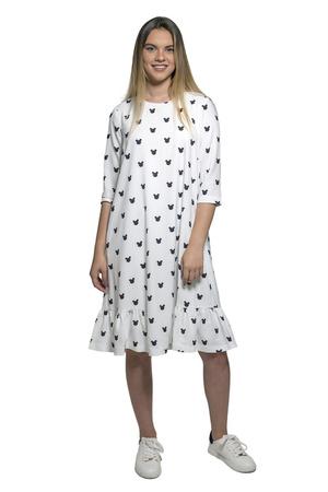 שמלת מיקי שחור לבן