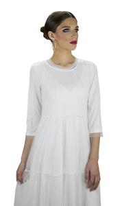 שמלת ויולט לבנה