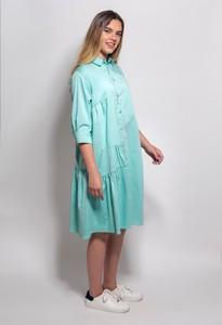 שמלה מכופתרת בגזרת אוברסייז מנטה