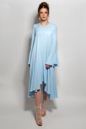 שמלה אסימטרית תכלת