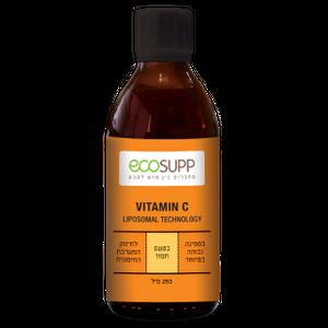 """ויטמין C ליפוזומאלי בספיגה גבוהה של חברת אקוסאפ - 250 מ""""ל"""
