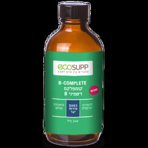 """קומפלקס ויטמין B של חברת אקוסאפ - 240 מ""""ל"""
