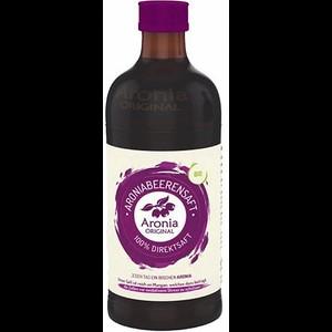 """משקה אוכמניות ארוניה אורגניות טהור-בקבוק זכוכית של 350 מ""""ל"""