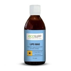"LIPO MAG – מגנזיום גליצינאט ליפוזומלי - 300 מ""ל"