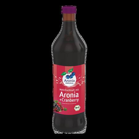 """משקה ארוניה בשילוב חמוציות אורגני -700 מ""""ל"""