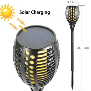 מהבהב מנורה לרקוד להבה LED אנרגיה סולארי