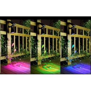 מנורת גן סולארי צבעוני