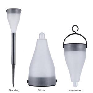 6 מנורת גן אור חיצוני צבעוני