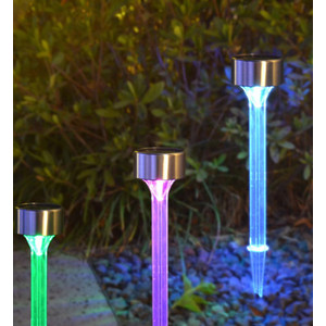 סט 6 דוקרן סולארי לגינה צבעוני