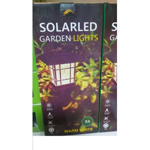 סט רביעייה דוקרן סולארי לגינה לבן חם