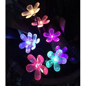 זר פרחים סולארי 8 נורות מחליף צבעים