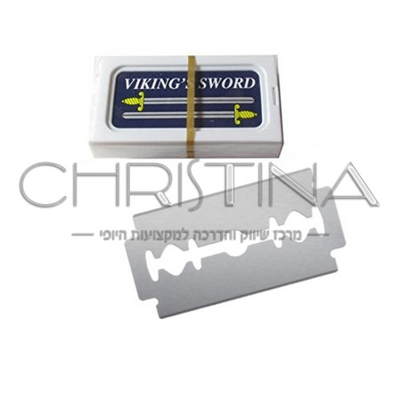 סכין גילוח לתער 10 יח' VIKING'S SWORD