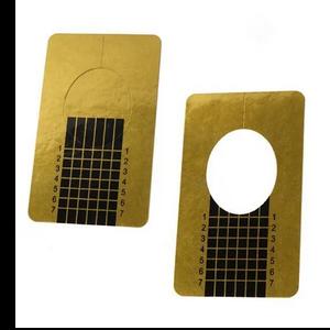 גליל תבניות זהב לבניית ציפורניים 500 יח'