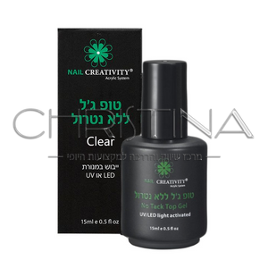 טופ ג'ל ללא נטרול שקוף - NO TACK TOP GEL CLEAR