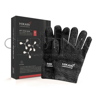 מסכת אנטי אייג'ינג לידיים וציפורניים - HIKARI Anti Aging Gloves