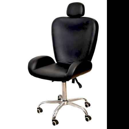 כיסא לעיצוב גבות\איפור רחב עם משענת ראש