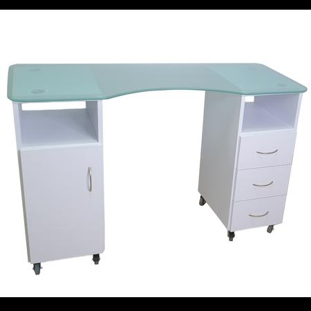 שולחן בניית ציפורניים משטח זכוכית