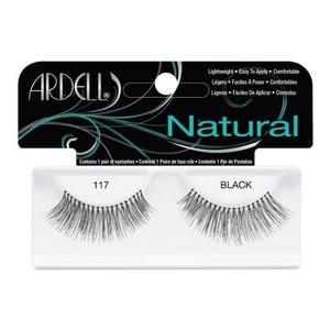 רצועות להדבקת ריסים - Ardell Natural 117 Black