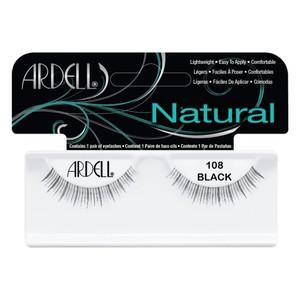 רצועות להדבקת ריסים - Ardell Natural 108 Black
