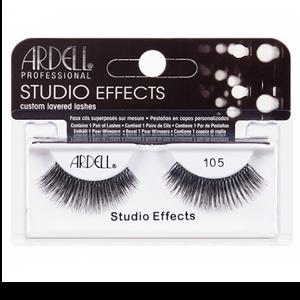 """רצועות להדבקת ריסים - Ardell """"Studio Effects"""" 105 Black"""
