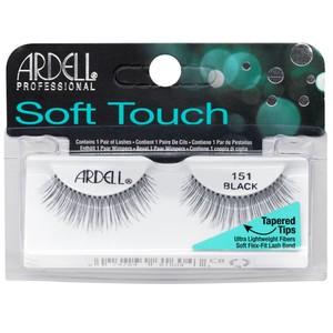 רצועות להדבקת ריסים - Ardell Soft Touch 151 black