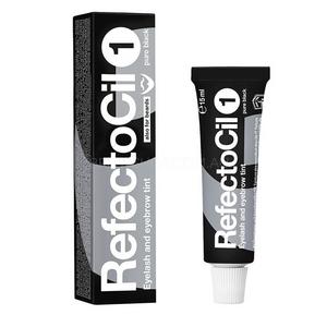 """צבע לצביעת ריסים וגבות - שחור מבריק – RFEFCTOCIL """"Pure Black"""" - No.1"""