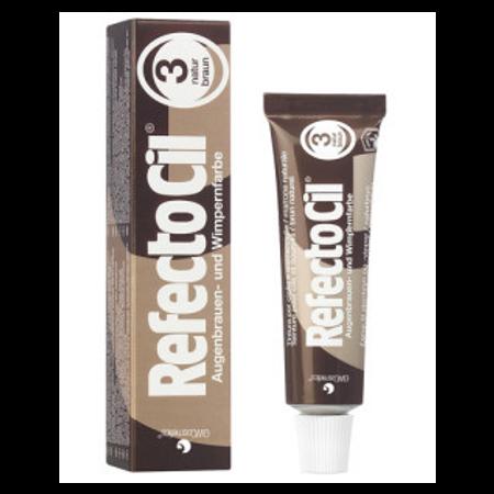 """צבע חום טבעי לצביעת ריסים וגבות – RFEFCTOCIL """"Natural Brown"""" - No.3"""