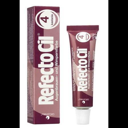 """צבע ערמוני לצביעת ריסים וגבות – RFEFCTOCIL """"Chestnut"""" - No.4"""