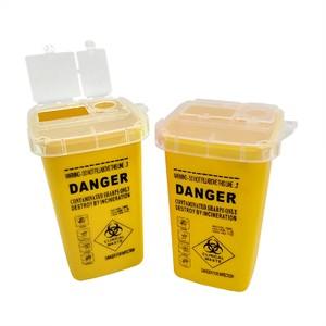 פח פסולת רפואית - לזריקת מחטים וכלים חדים