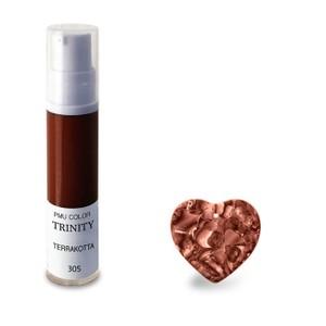 צבע לשפתיים - 305 טרקוטה (חום-אדום) - PMU Color Trinity