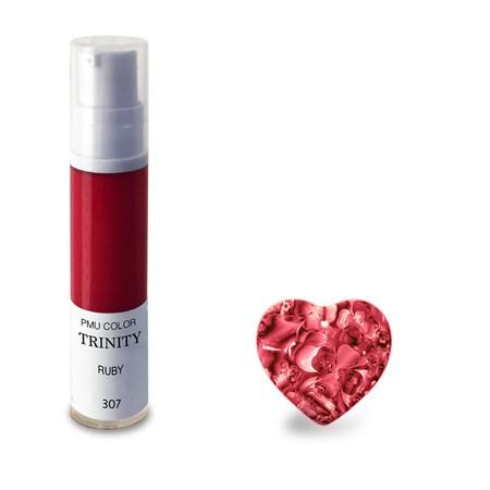 צבע לשפתיים - 307 רובי (ורוד-אדמדם) - PMU Color Trinity