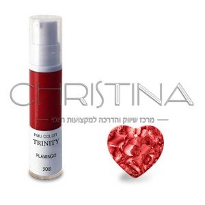 צבע לשפתיים - 308 פלמינגו (אדום אינטנסיבי) - PMU Color Trinity
