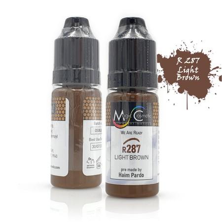 צבע לאיפור קבוע לגבות - R 287 חום בהיר - Magic PMU