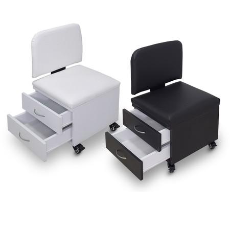 כיסא פדיקור 2 מגירות למטפלת