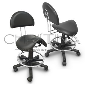 כיסא אוכף עם משענת גב קבועה