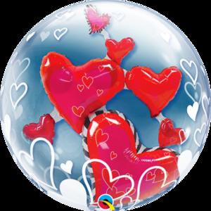 לבבות בתוך בלון