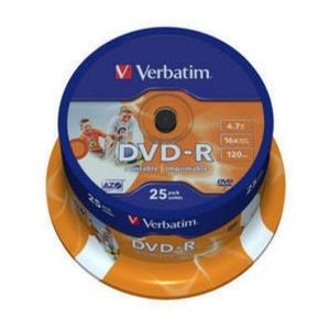 דיסקים לצריבה DVD-R 25 יחי`Verbatim 25