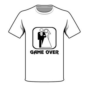 חולצת חתונה game over