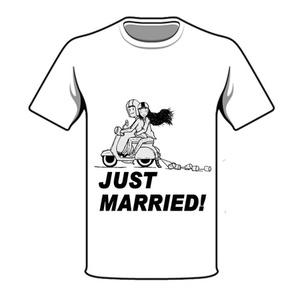 חולצת חתונה just married