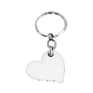 מחזיקי מפתחות עץ צד-אחד לב נטוי