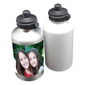 בקבוק שתייה מאלומיניום לבן -כסף