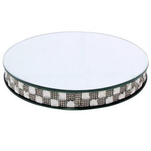 בסיס זכוכית מהודר עגול לפמוטים