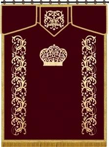 פרוכת מהודרת דגם עמודי המקדש